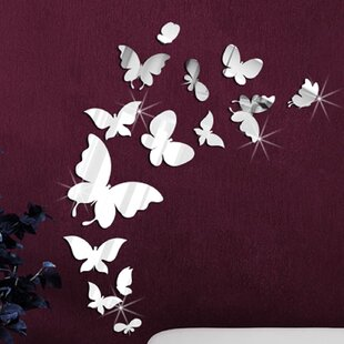 14 Mirror Butterflies Wall Art Wall Decal