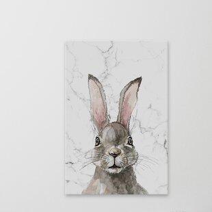 'Bewildered Rabbits 'Thinking Rabbit' Canvas Art