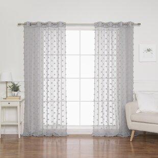 Polka Dot Semi Sheer Curtains Drapes You Ll Love In 2021 Wayfair