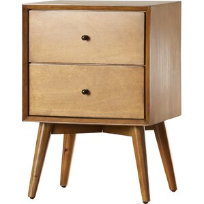Parocela 2 Drawer Nightstand