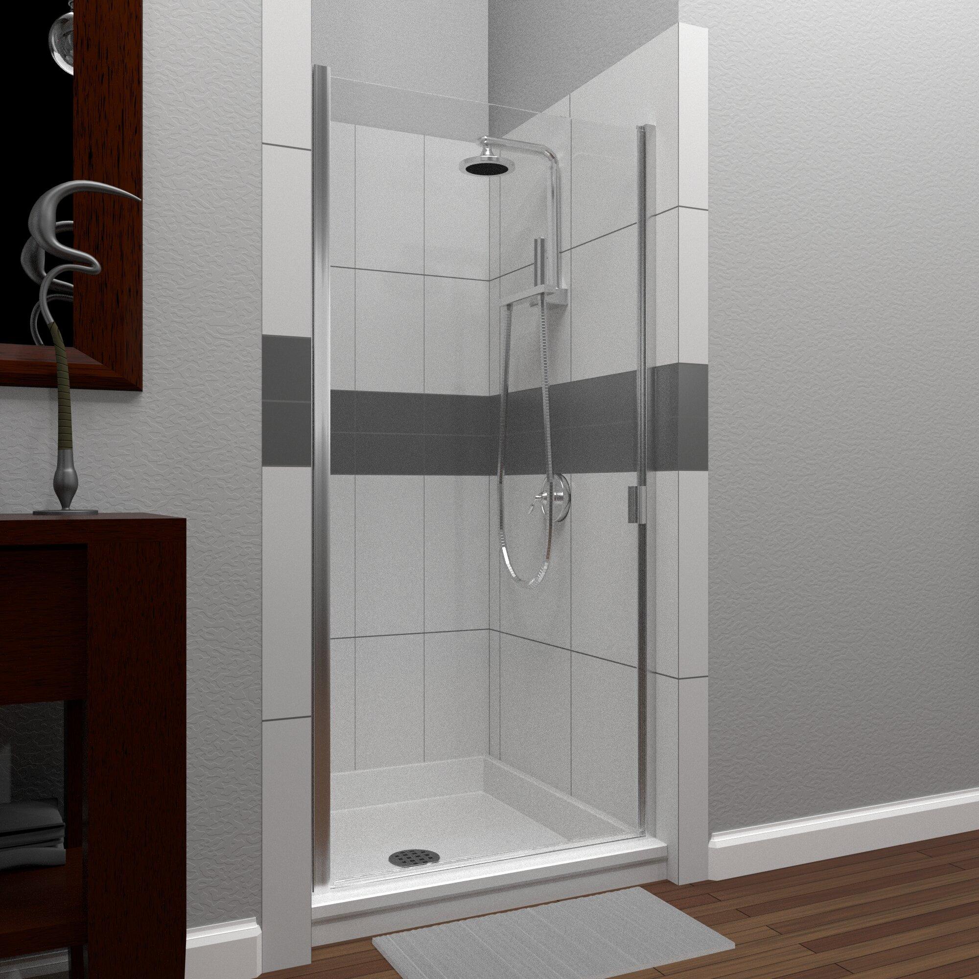 Rd Swinging 34 X 66 Hinged Semi Frameless Shower Door