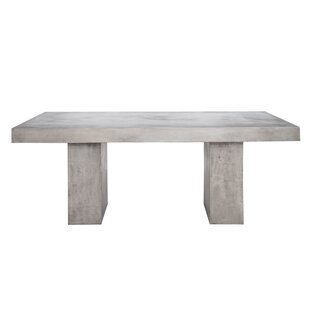 Dinsmore Stone/Concrete Dining Table by 17 Stories