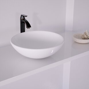 Affordable Phoenix Glass Circular Vessel Bathroom Sink with Faucet By VIGO