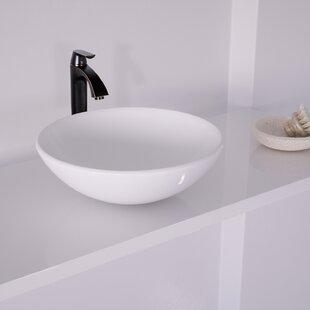 Comparison Phoenix Glass Circular Vessel Bathroom Sink with Faucet By VIGO