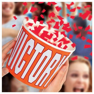 Victory Confetti Disposable Bucket Dump (Set of 4)