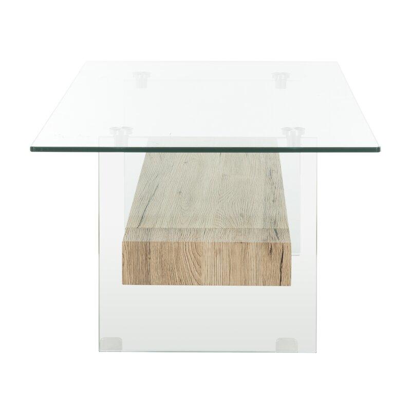 Christen Modern Glass Coffee Table