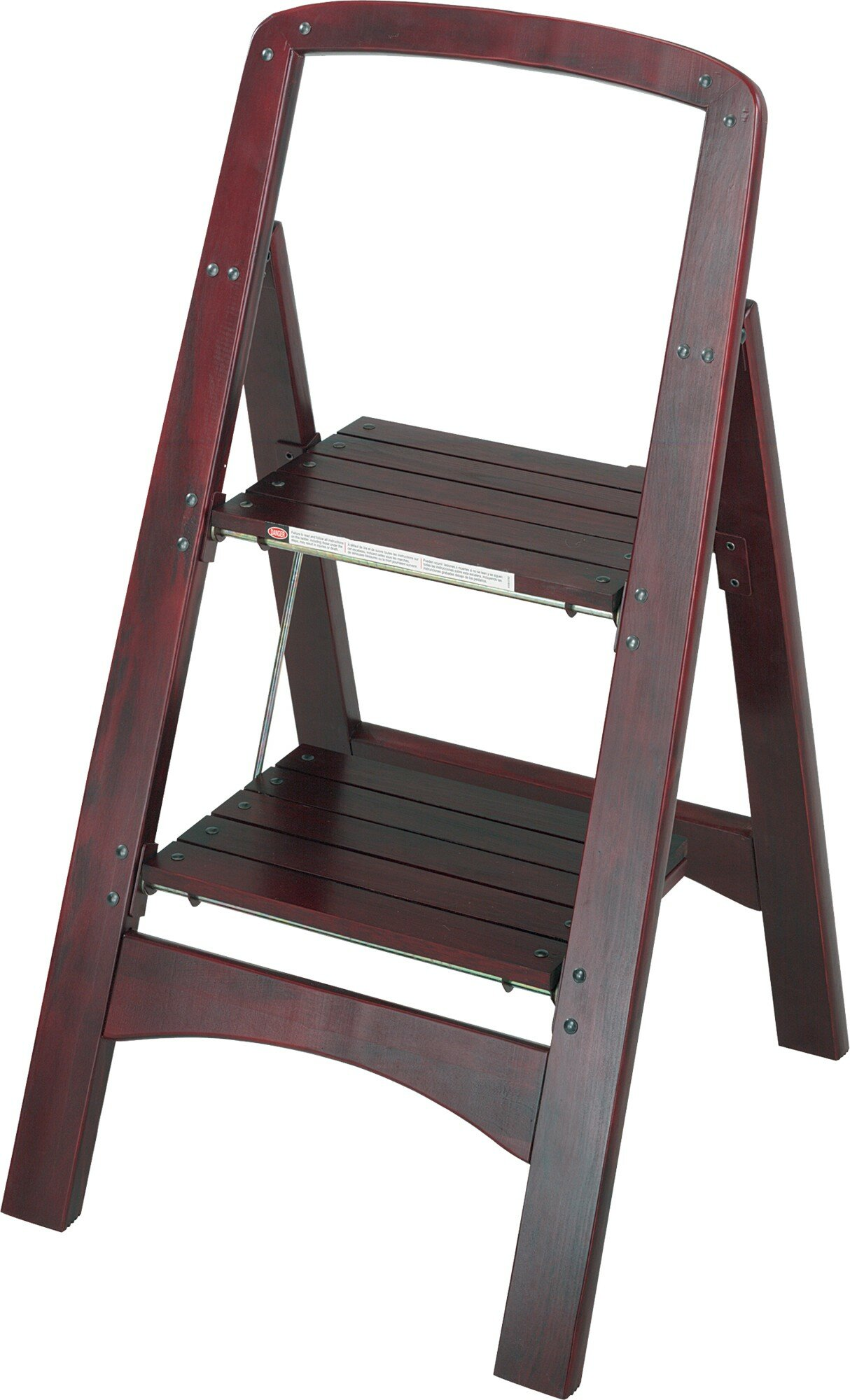 Step Wood Stool With 225 Lb Load