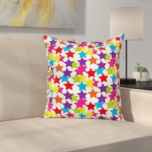 Rainbow Star Pillow Cover