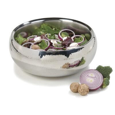 Carlisle Food Service Products 2.5-qt. Stainless Steel Double Wall Angle Serving Bowl (Set of 2)