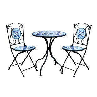 Cobby Mosaic 3 Piece Bistro Set by Fleur De Lis Living