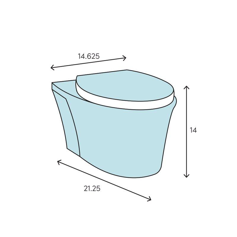Duravit Durastyle Dual Flush Elongated Toilet Bowl Seat Not Included Reviews Wayfair