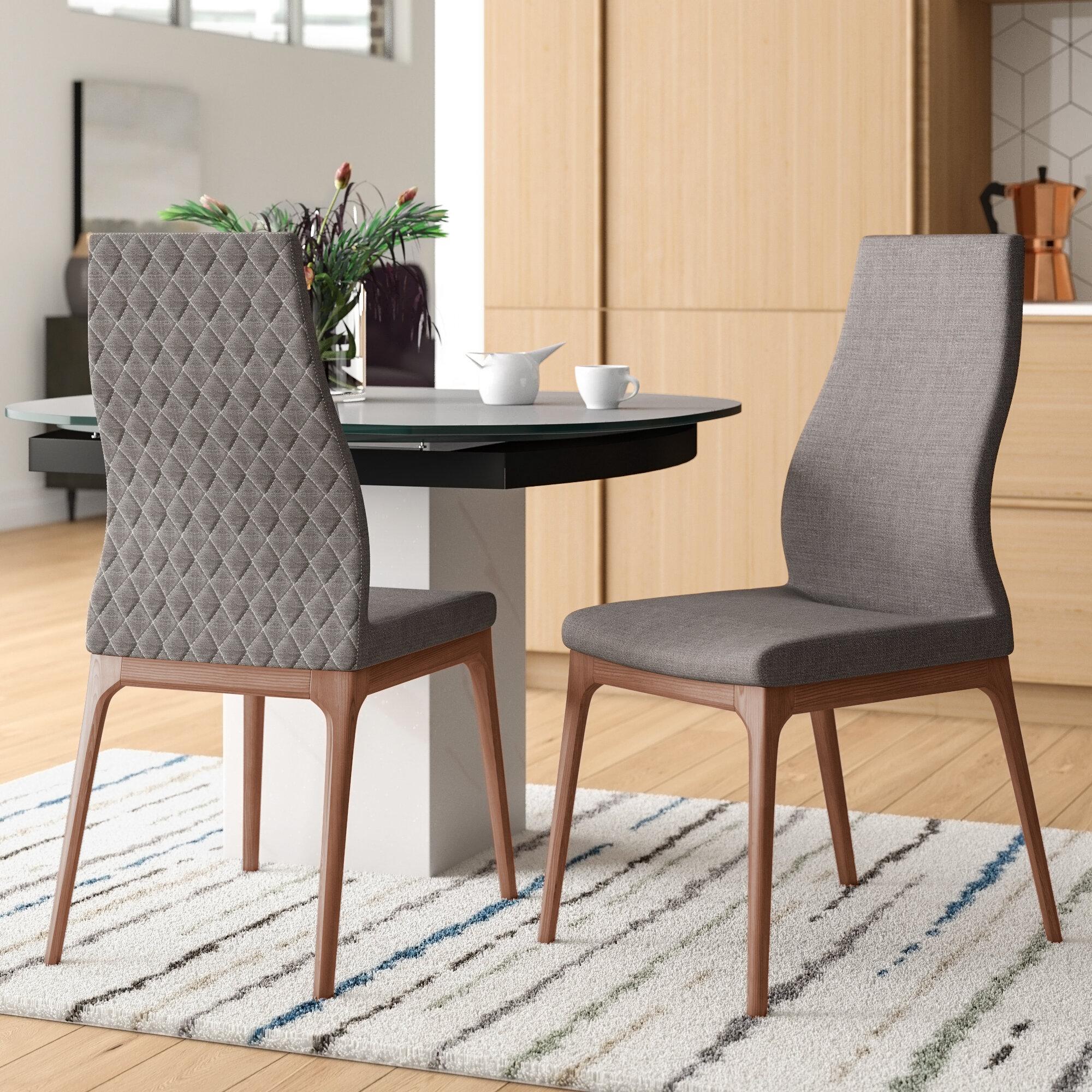 Corrigan Studio Malott Upholstered Side Chair In Gray Wayfair