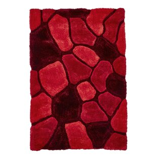 Le House Hand Tufted Red Rug