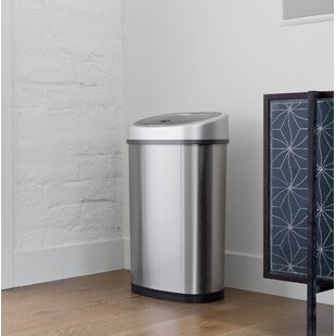 stainless steel kitchen trash can. Stainless Steel 13.2 Gallon Motion Sensor Trash Can Kitchen K