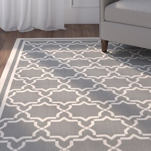 Short Grey/Beige Indoor/Outdoor Rug