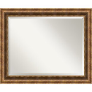 Darby Home Co Sova Bronze Wood Wall Mirror