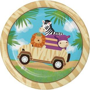 Safari Adventure Appetizer Plate (Set of 24)