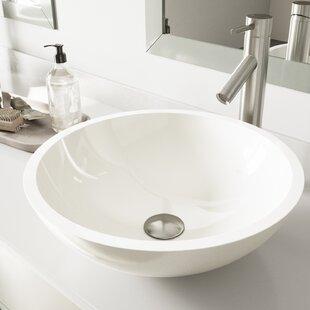 Compare & Buy Phoenix Glass Circular Vessel Bathroom Sink with Faucet By VIGO