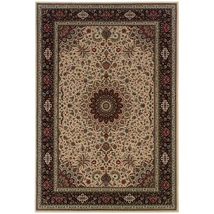 Shelburne Traditional Ivory/Black Area Rug By Astoria Grand