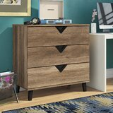 Clevenger 3 Drawers Dresser by Trule