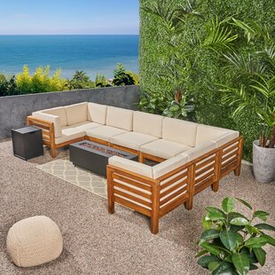 Maxwell Outdoor 10 Piece Sectional Seating Group with Cushions