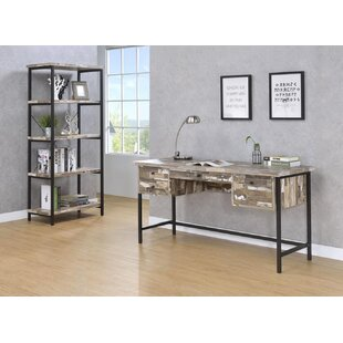 GinevraWriting Desk with Bookcase by Union Rustic