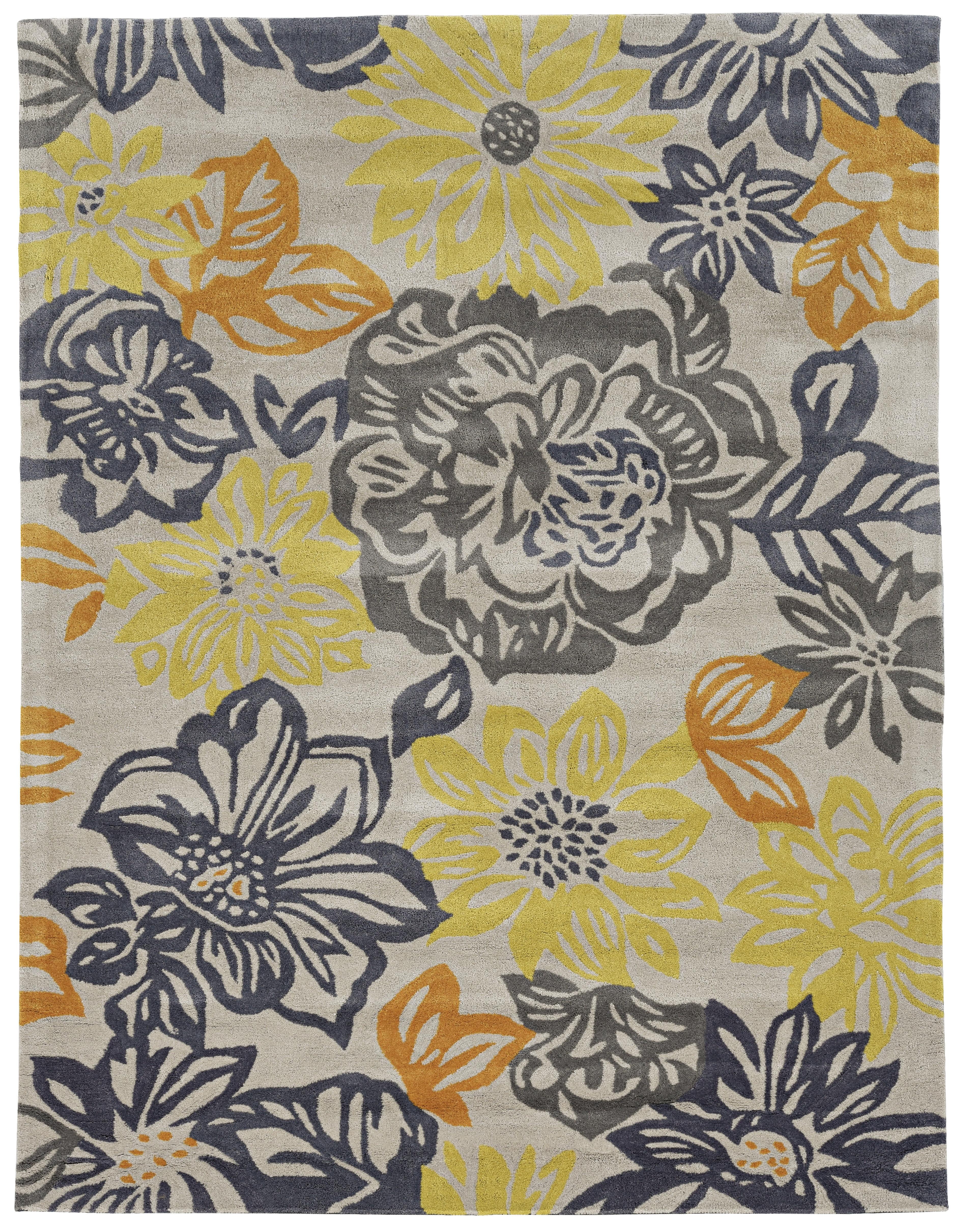 Winston Porter Marisela Hand Woven Grey Yellow Area Rug Reviews Wayfair Ca
