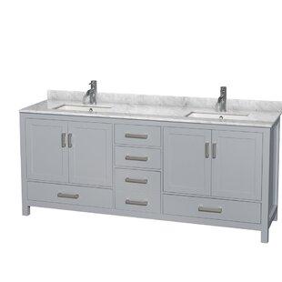 80 inch double vanity wayfair rh wayfair com 80 inch bathroom vanity without top 80 inch bathroom vanity without top