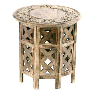 Abbingt Floral Festivity Wood End Table b..
