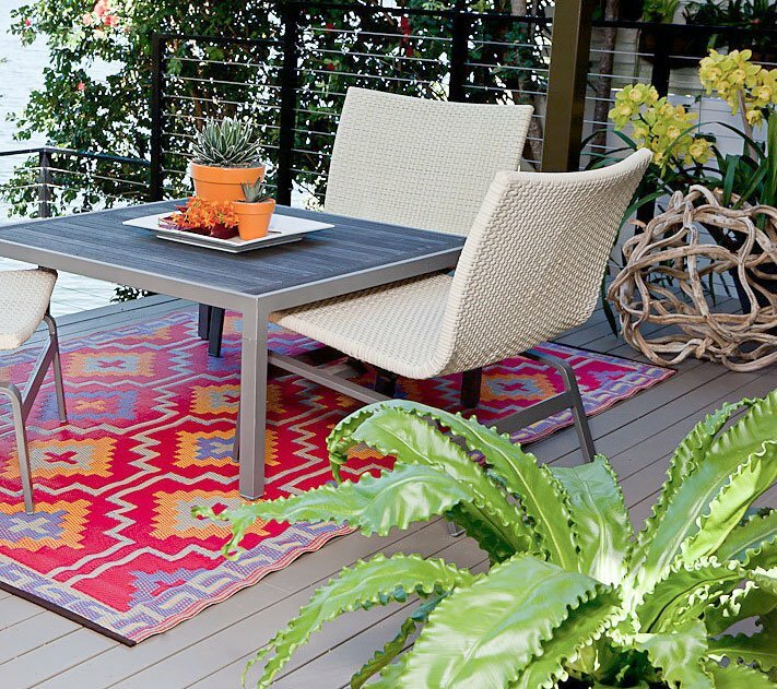 Hudson Square Red Indoor Outdoor Area Rug