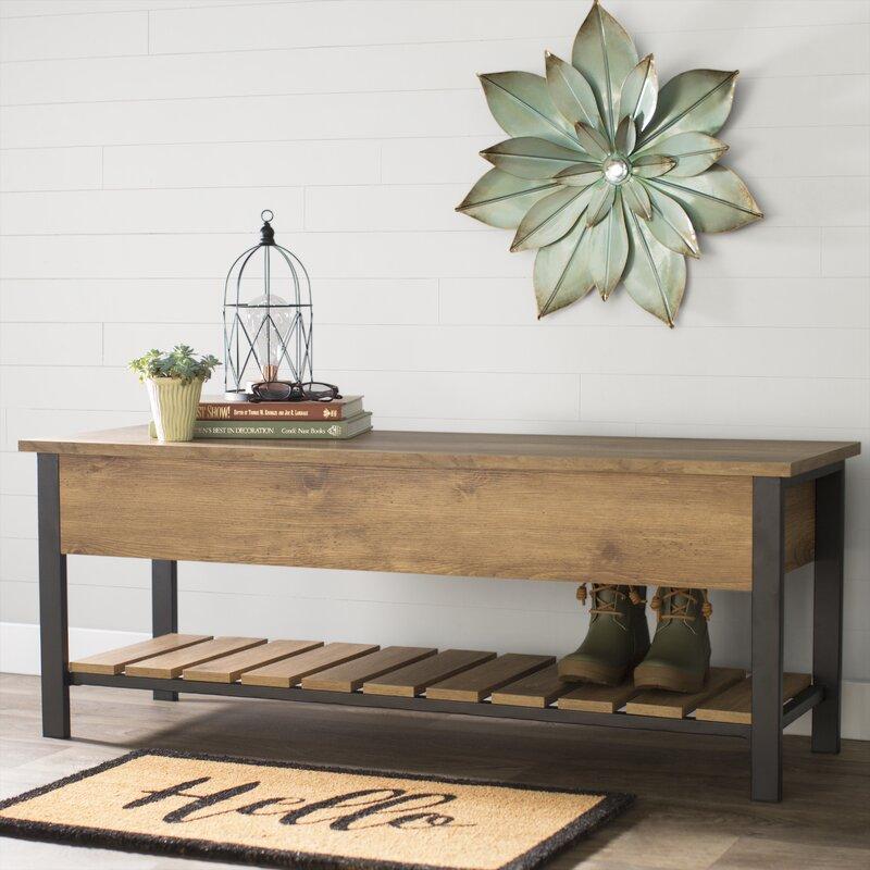 Savon Open-Top Wood Storage Bench