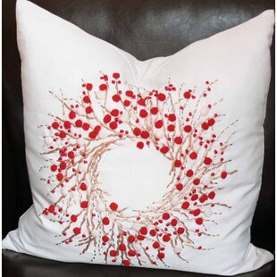 Holiday Berry Wreath Throw Pillow by Xia Home Fashions Amazing