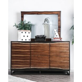 Odysseus 2 Drawer Double Dresser with Mirror