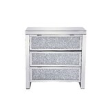 Dane Crystal 3 Drawer Accent Chest by Rosdorf Park