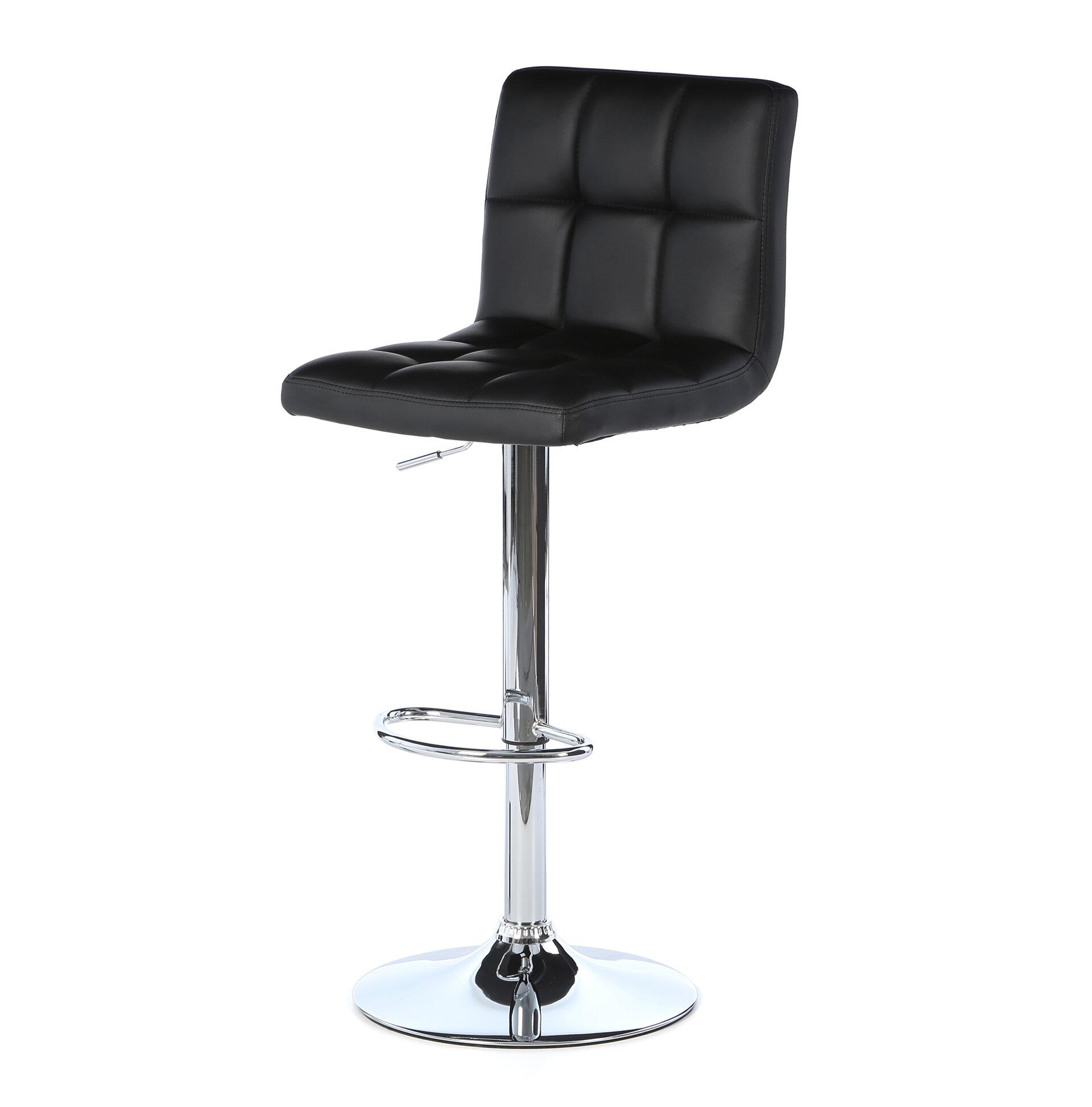 Ordinaire Zipcode Design Full Back Adjustable Height Swivel Bar Stool U0026 Reviews |  Wayfair