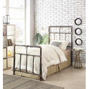Newfield Twin Wrought Iron Headboard/Footboard by Darby Home Co