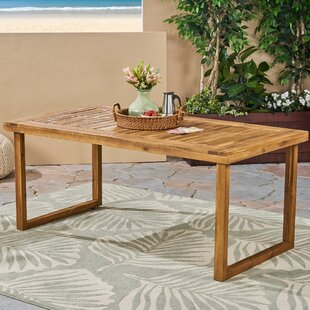 Lynx Solid Wood Dining Table by Millwood Pines