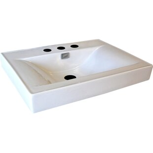 Read Reviews Vitreous China 24 Pedestal Bathroom Sink with Faucet and Overflow By D'Vontz