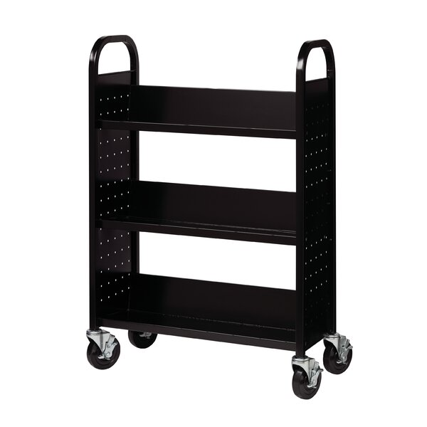 Metal Sloped Shelf Book Cart by Hirsh Industries