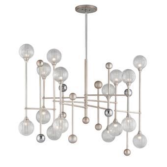 Corbett Lighting Majorette 12 Light Sputnik Modern Linear Chandelier Wayfair
