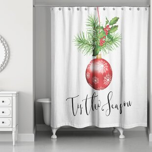 Leta Tis the Season Single Shower Curtain