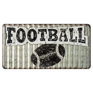 Corrugated Metal Football Wall Décor