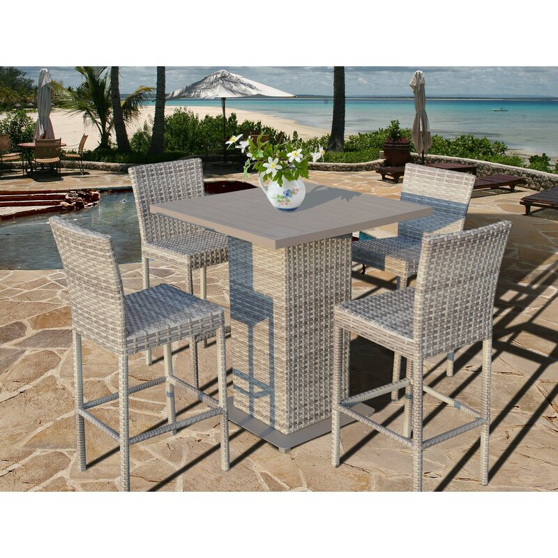 Ansonia 5 Piece Bar Height Dining Set