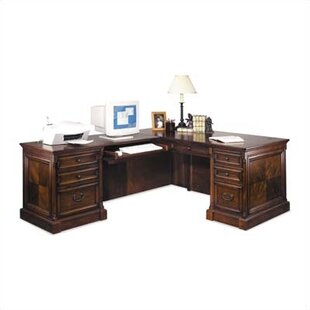 Martin Home Furnishings Mt. View Office L-Shape Executive Desk