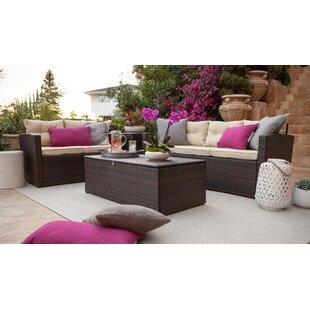 Best Desu, Inc. 4 Piece Sofa Set with Cushions