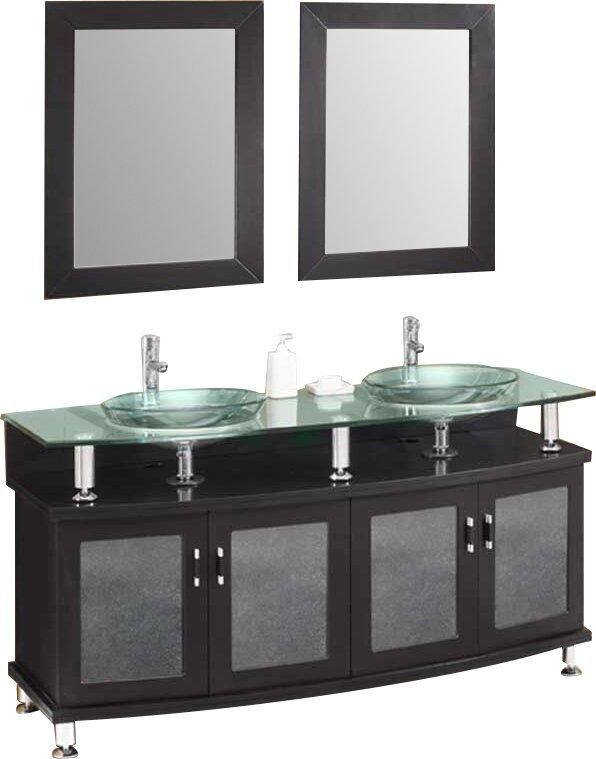 Fresca Classico Contento Modern Double Sink Bathroom Vanity