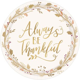 Autumn Always be Thankful Paper Dinner (Set of 18)