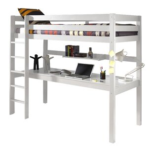 Ethridge European Single High Sleeper Bed With Desk By Zoomie Kids
