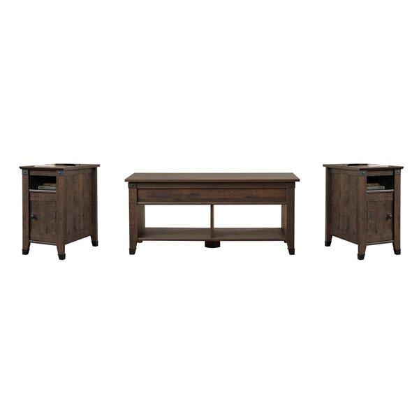 Chantrell 3 Piece Coffee Table Set Color Coffee Oak B000409967 1624594715 Tradewins Furniture