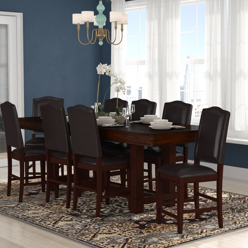 Perfect Manning 9 Piece Counter Height Dining Set
